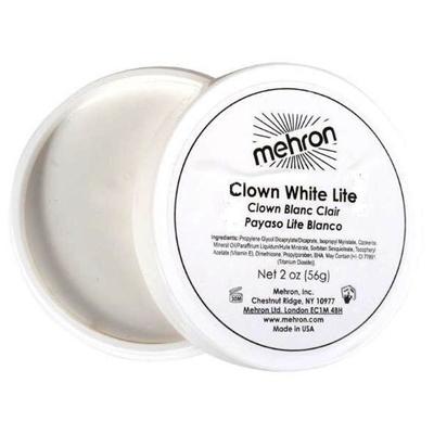 Mehron Clown White Lite Valkoinen maskeerausvoide