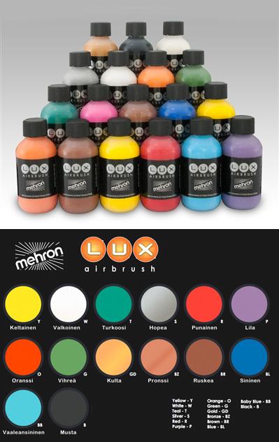 LUX Airbrush Nestemäiset vartalomaalit 75 ml