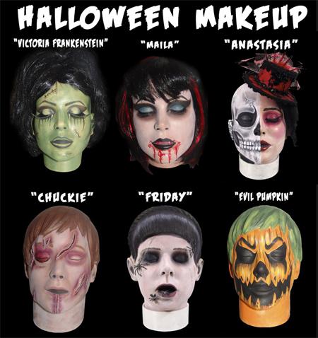 Practice head - maskeerausesimerkkejä